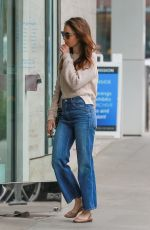 LILY COLLINS Heading to Skin Care Salon in Beverly Hills 05/30/2018