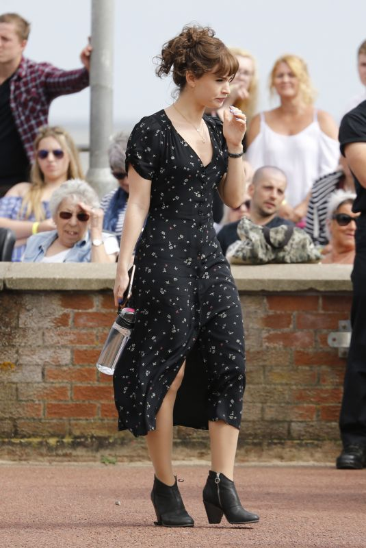 LILY JAMES on the Set of Danny Boyles New Movie in London 06/27/2018