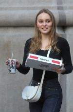 LILY-ROSE DEPP Out for Pizza in New York 05/30/2018