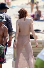 LINDSAY LOHAN at a Beach in Mykonos 06/17/2018