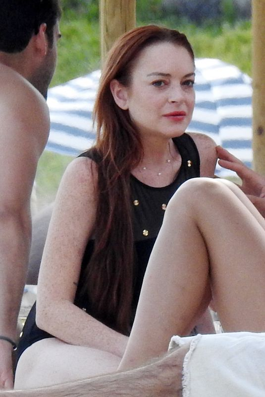 LINDSAY LOHAN at Lohan Beach Club in Mykonos 06/10/2018