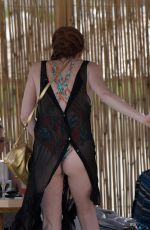 LINDSAY LOHAN at Lohan Beach House in Mykonos 06/07/2018