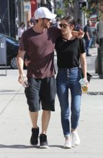 LIZZY CAPLAN and Tom Riley Out Shopping in Beverly Hills 06/20/2018