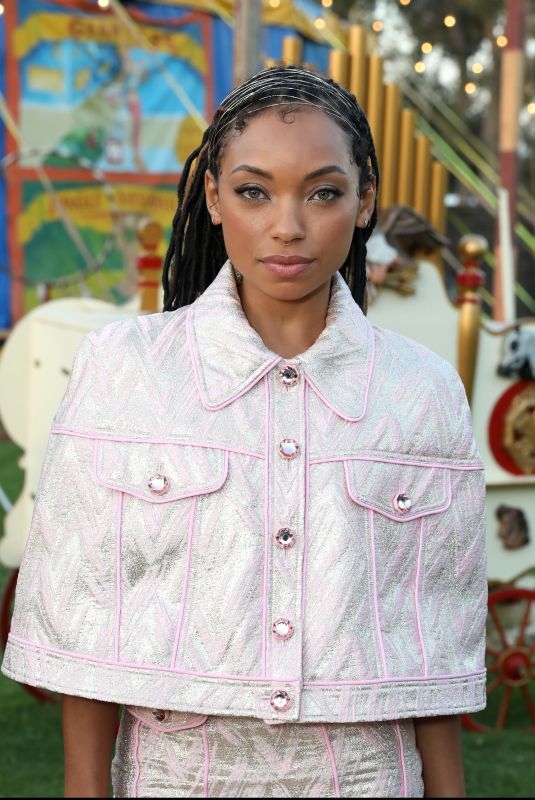 LOGAN BROWNING at Moschino Fashion Show in Los Angeles 06/08/2018