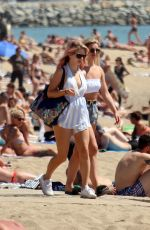 LOTTIE MOSS and TIN A STINNES in Bikinis at a Beach in Barcelona 06/13/2018