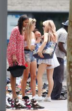 LOTTIE MOSS and TINA STINNES Out in Barcelona 06/13/2018