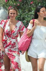 LUCY and TIFFANY WATSON Out in Mykonos 06/21/2018