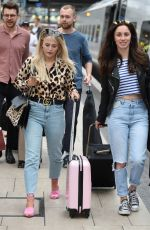 LUCY FALLON and JULIA GOULDING at Manchester Piccadilly Train Station 06/02/2018