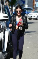 LUCY HALE Heading to a Gym in Los Angeles 06/26/2018