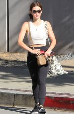 LUCY HALE Leaves a Gym in Los Angeles 06/19/2018