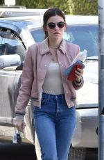LUCY HALE Out for a Cogffee in Studio City 06/19/2018