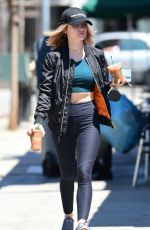 LUCY HALE Out for Coffee in Los Angeles 06/09/2018