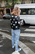 LUCY HALE Out in Paris 06/06/2018