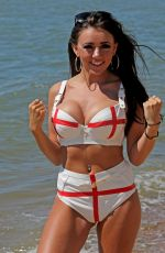 LYDIA LUCY in Bikini at a Beach at Leigh on Sea 06/26/2018