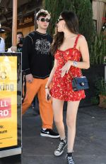 MADISON BEER and Zack Bia Out for Lunch at Il Pastaio in Los Angeles 06/11/2018