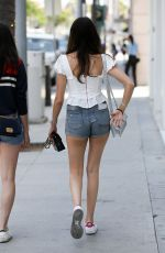 MADISON BEER in Denim Shorts Out Shopping in Beverly Hills 06/29/2018