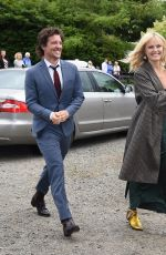 MALIN AKERMAN Arrives at Kit Harington and Rose Leslie