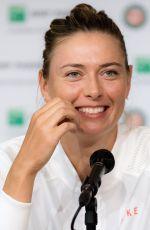 MARIA SHARAPOVA at Press Conference at French Open Tennis Tournament 06/02/2018