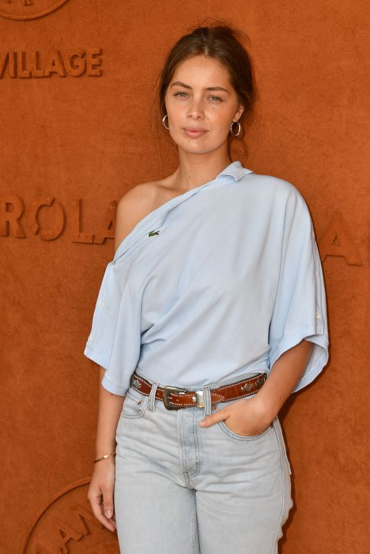 MARIE-ANGE CASTA at Roland Garros Village in Paris 06/04/2018