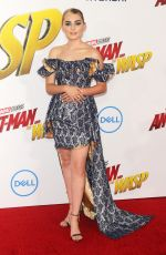 MEG DONNELLY at Ant-man and the Wasp Premiere in Los Angeles 06/25/2018
