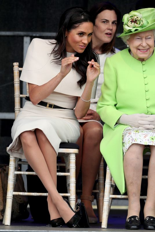 MEGHAN MARKLE and Queen Elizabeth II at Chester 06/14/2018