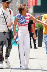 MELANIE BROWN in American Flag T-Out in New York 06/27/2018