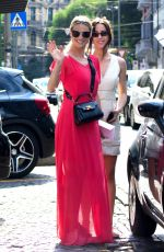 MICHELLE and AURORA HUNZIKER Out Shopping in Milan 06/14/2018