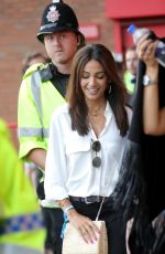 MICHELLE KEEGAN Arrives at Old Trafford in Manchester 06/10/2018