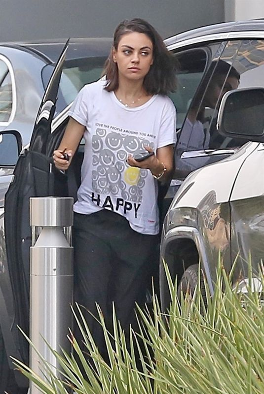 MILA KUNIS Out in Los Angeles 06/14/2018