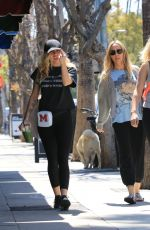 MILEY and TISH CYRUS Out and About in Studio City 06/17/2018