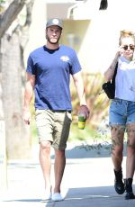 MILEY CYRUS and Liam Hemsworth Out for Iced Coffee in Studio City 06/20/2018