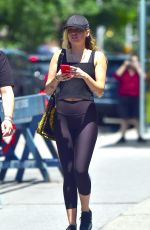 MILEY CYRUS in Tights Heading to a Gym in New York 06/26/2018