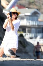 MINNIE DRIVER Out on the Beach in Los Angeles 06/11/2018