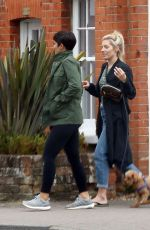 MOLLIE KING and FRANKIE BRIDGE Out in Cobham 06/12/2018