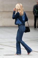 MOLLIE KING in Double Denim Out in London 06/07/2018