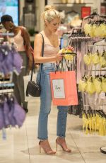 MOLLIE KING Shopping at Boux Avenue Store in London 06/28/2018