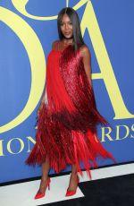 NAOMI CAMPBELL at CFDA Fashion Awards in New York 06/05/2018