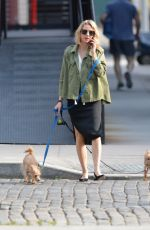 NAOMI WATTS Walks Her Dogs Out in New York 06/17/2018