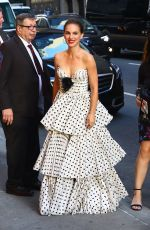 NATALIE PORTMAN Arrives at Stephen Colbert Show in New York 06/14/2018