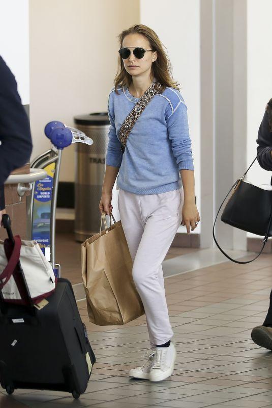 NATALIE PORTMAN at Los Angeles International Airport 06/17/2018
