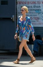 NICKY HILTON in Denim Shorts Out in New York 06/25/2018