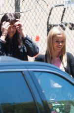 NICOLE KIDMAN, REESE WITHERPOON and SHAILENE WOODLEY on the Set of Big Little Lies in Los Angeles 06/18/2018