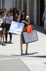 NICOLETTE GRAY Out Shopping on Rodeo Drive in Beverly Hills 06/19/2018