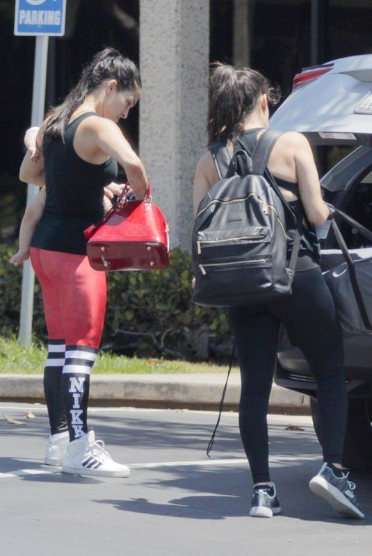 NIKKI and BRIE BELLA Arrives at a Gym in Mission Bay 06/02/2018