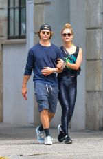 NINA AGDAL and Jack Brinkley-Cook Leaves a Gym in New York 06/08/2018
