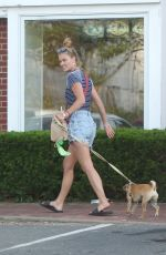 NINA AGDAL Out with Her Dog in New York 06/17/2018