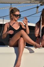OLIVIA BUCKLAND, CARA DELAHOYDE, GABBY ALLEN, TINA STINNES and NADIA ESSEX in Swimsuit at a Boat in Mykonos 06/05/2018