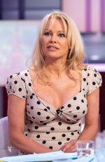 PAMELA ANDERSON at Good Evening Britain Show in London 06/28/2018