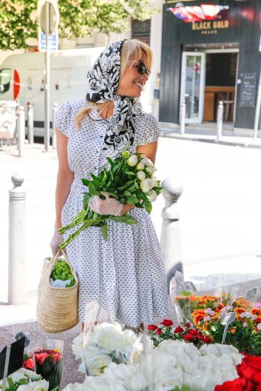 PAMELA ANDERSON Out in Corniche-Kennedy Neighborhood in Marseille 2018