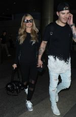PARIS HILTON and Chris Zylka at LAX Airport in Los Angeles 06/18/2018